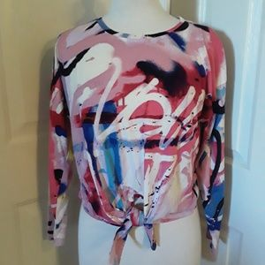 NYC Graffiti print top (S)